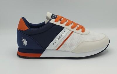 Sneakers U.S. Polo Assn art. Brandon colore bianco
