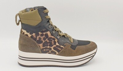 Sneakers Nero Giardini art. A909042D/510 colore militare