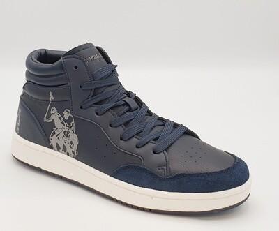 Sneakers alta uomo U.S. POLO ASSN. art Bask Club colore blu