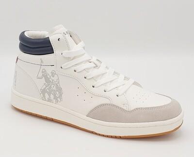 Sneakers alta uomo U.S. POLO ASSN. art Bask Club colore bianco