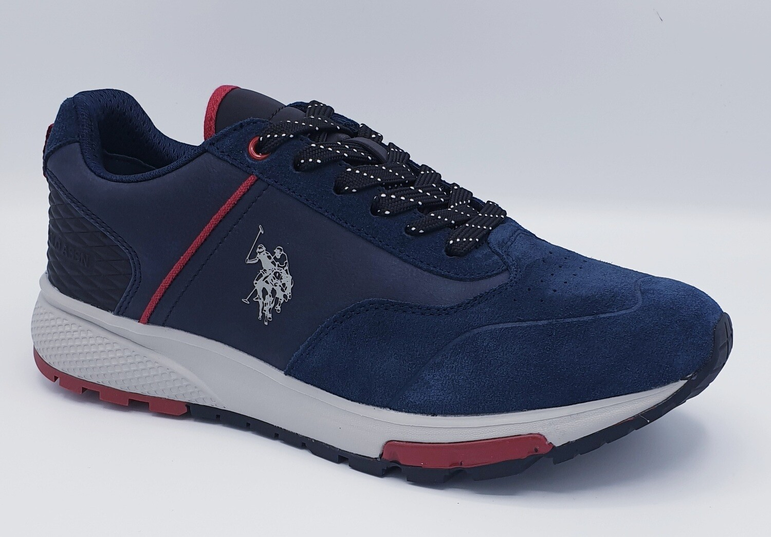 Sneakers S U.S. POLO ASSN. art. Heck suede colore blu
