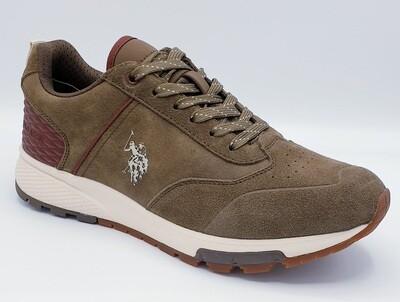 Sneakers U.S. POLO ASSN. art. Heck suede colore kaki