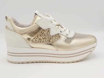 Sneakers Nero Giardini art. E115192D/418 colore oro
