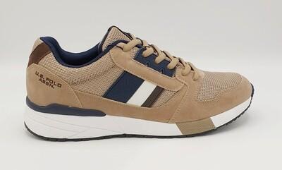Sneakers uomo U.S. POLO ASSN. art. CLEM colore beige-blu