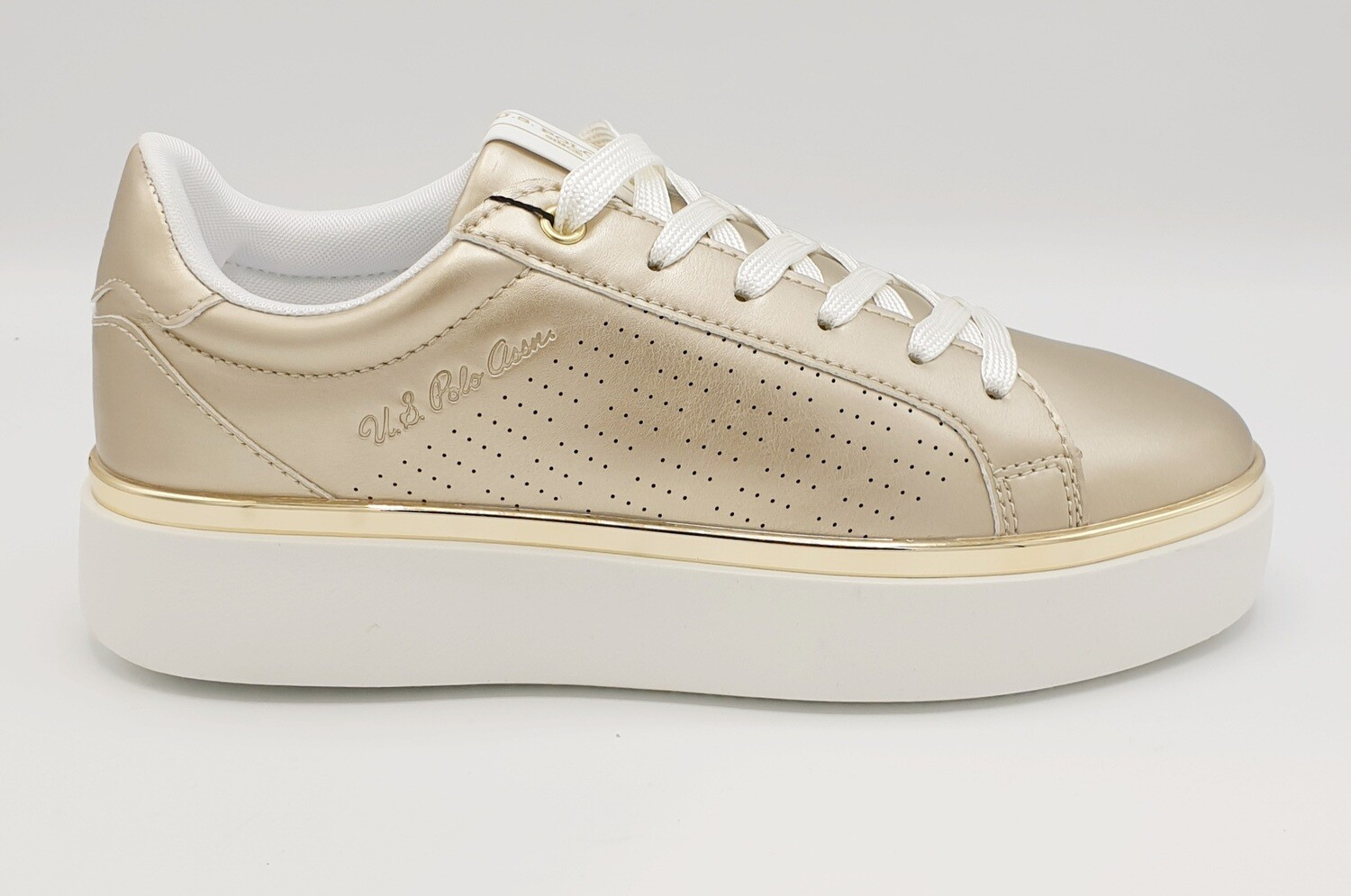 Sneakers donna U.S. POLO ASSN. art. LUCY colore oro