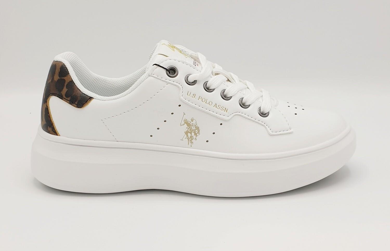 Sneakers donna U.S. POLO ASSN. art. JEWEL Animalier colore bianco