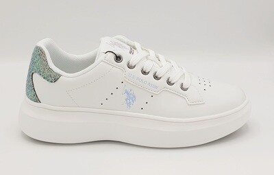Sneakers donna U.S. POLO ASSN. art. JEWEL Glitter colore bianco
