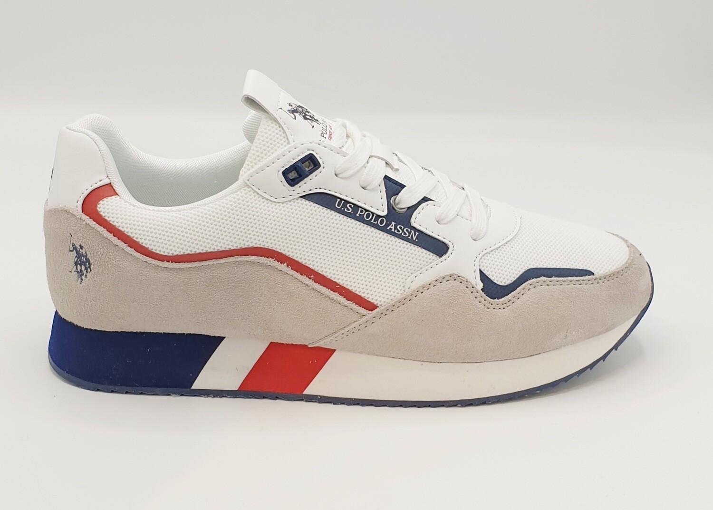 Sneakers uomo U.S. POLO ASSN. art. LEWIS143 colore bianco