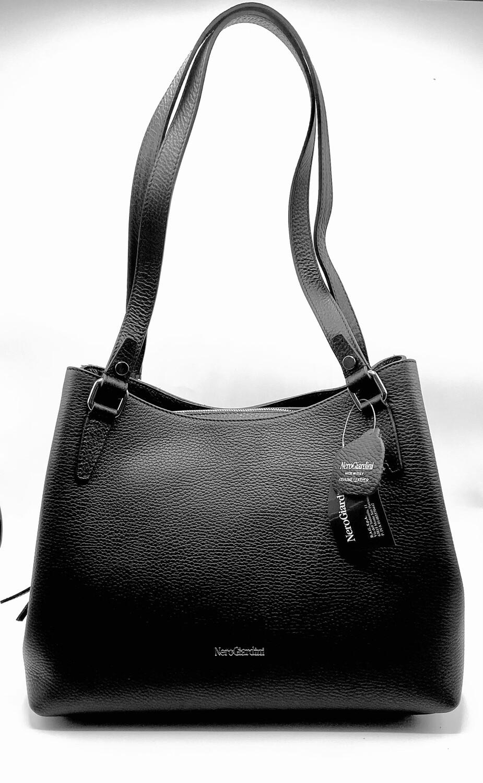 Borsa Shopper Nero Giardini art. E149009D/100 colore nero
