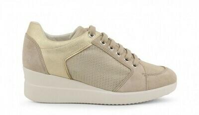 Sneakers Geox art.D8230B colore beige-champagne