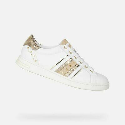 Sneakers Geox art.D151BA colore bianco-oro