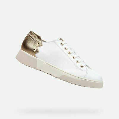 Sneakers Geox art.D15DAA colore bianco-oro