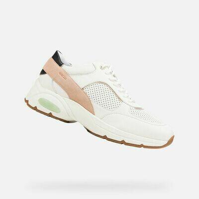 Sneakers Geox art.D15FGA colore bianco-albicocca