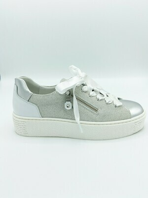 Sneakers Nero Giardini art.P907802D/700 colore argento