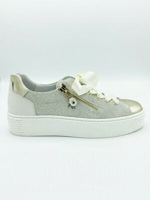 Sneakers Nero Giardini art.P907802D/415 colore oro