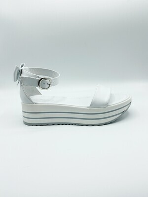 Sandalo Nero Giardini art.E012591D/707 colore bianco