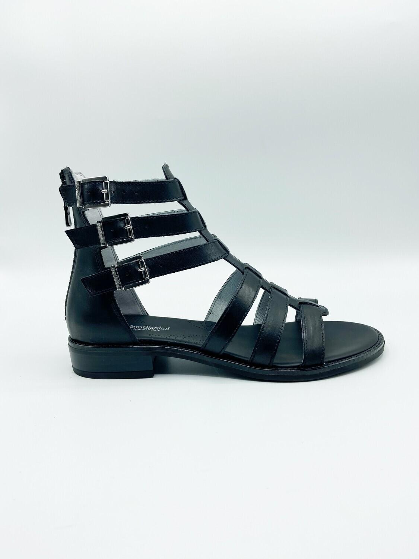 Sandalo Nero Giardini art.E012490D/100 colore nero