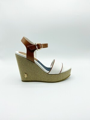 Sandalo U.S. Polo Assn. Anastasia colore bianco