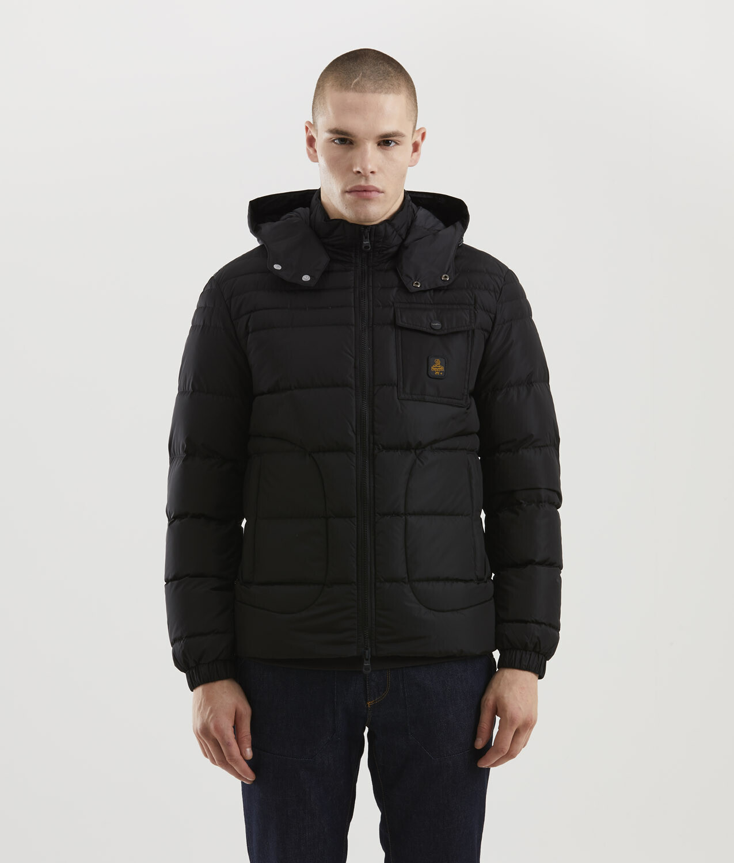Piumino Refrigiwear art.G06100 NY0185 Benson Jacket colore nero