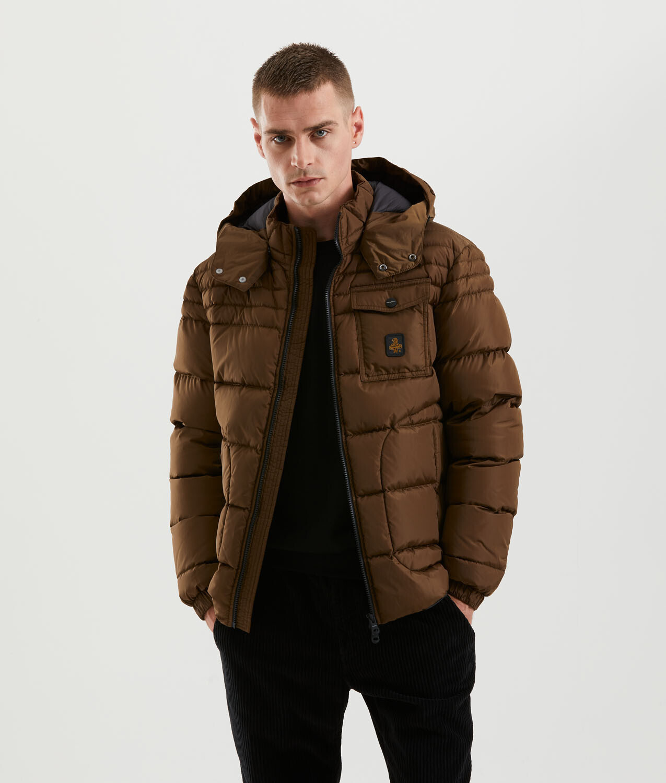 Piumino Refrigiwear art.G06100 NY0185 Benson Jacket  colore brunette