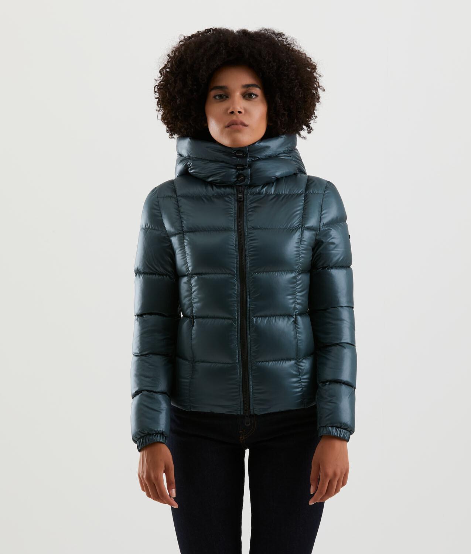 Piumino Refrigiwear art.W09900 NY0183 Ashley Jacket colore verde