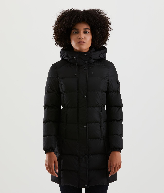 Piumino Refrigiwear art.W02700 NY0185 Lady Long Hunter Jacket colore nero