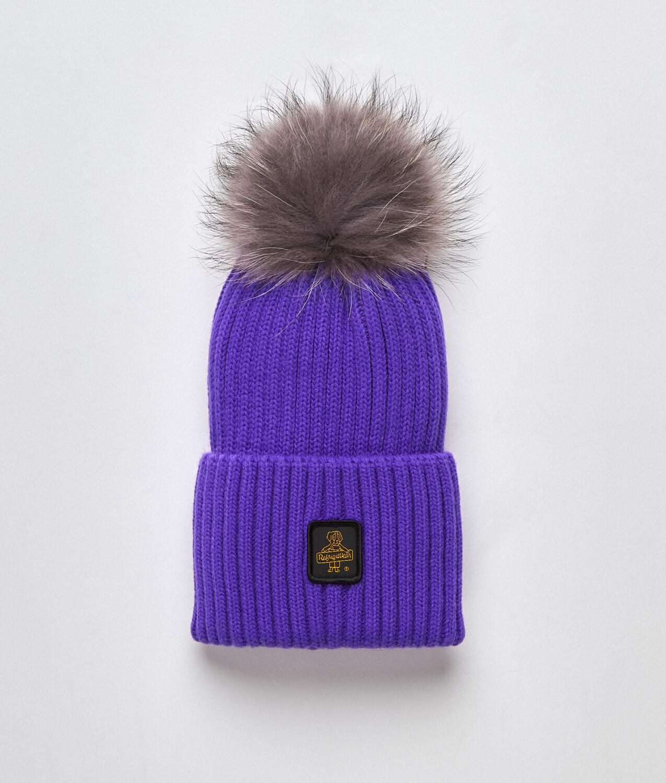 Cappellino Refrigiwear art.B05500 MA9083 Snow Flake Hat colore viola scuro