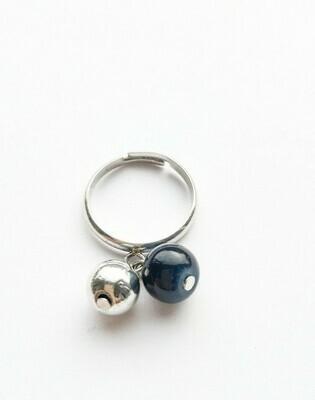 "Ring "" Marinière"" marine"