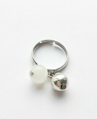 "Ring ""Marinière"" blanche"