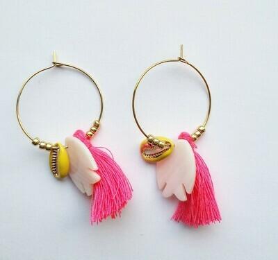 "Hoop earring ""Aloha"""