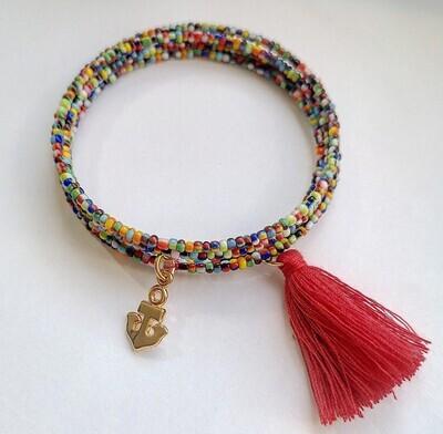 """Bracelet """"Réglisse"""" golden"""
