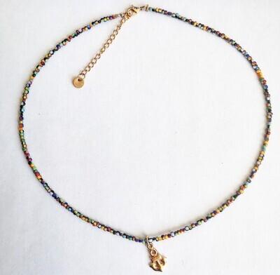 """Necklace """"Réglisse"""" golden"""