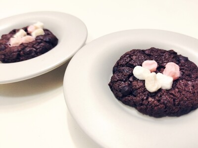 Double Chocolate Chip Cookies With Mini Marshmallows