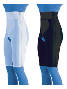 Compression Girdle Above Knee - Hook and Eye with Zipper