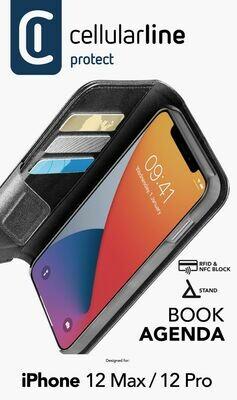 iPhone 12 Pro Max, hoesje book agenda, zwart