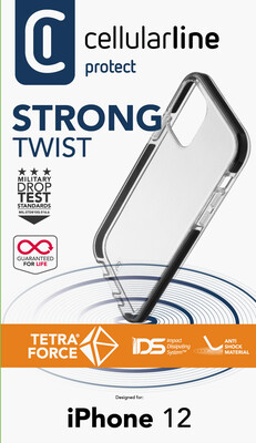 iPhone 12 mini, hoesje tetraforce shock-twist, transparant