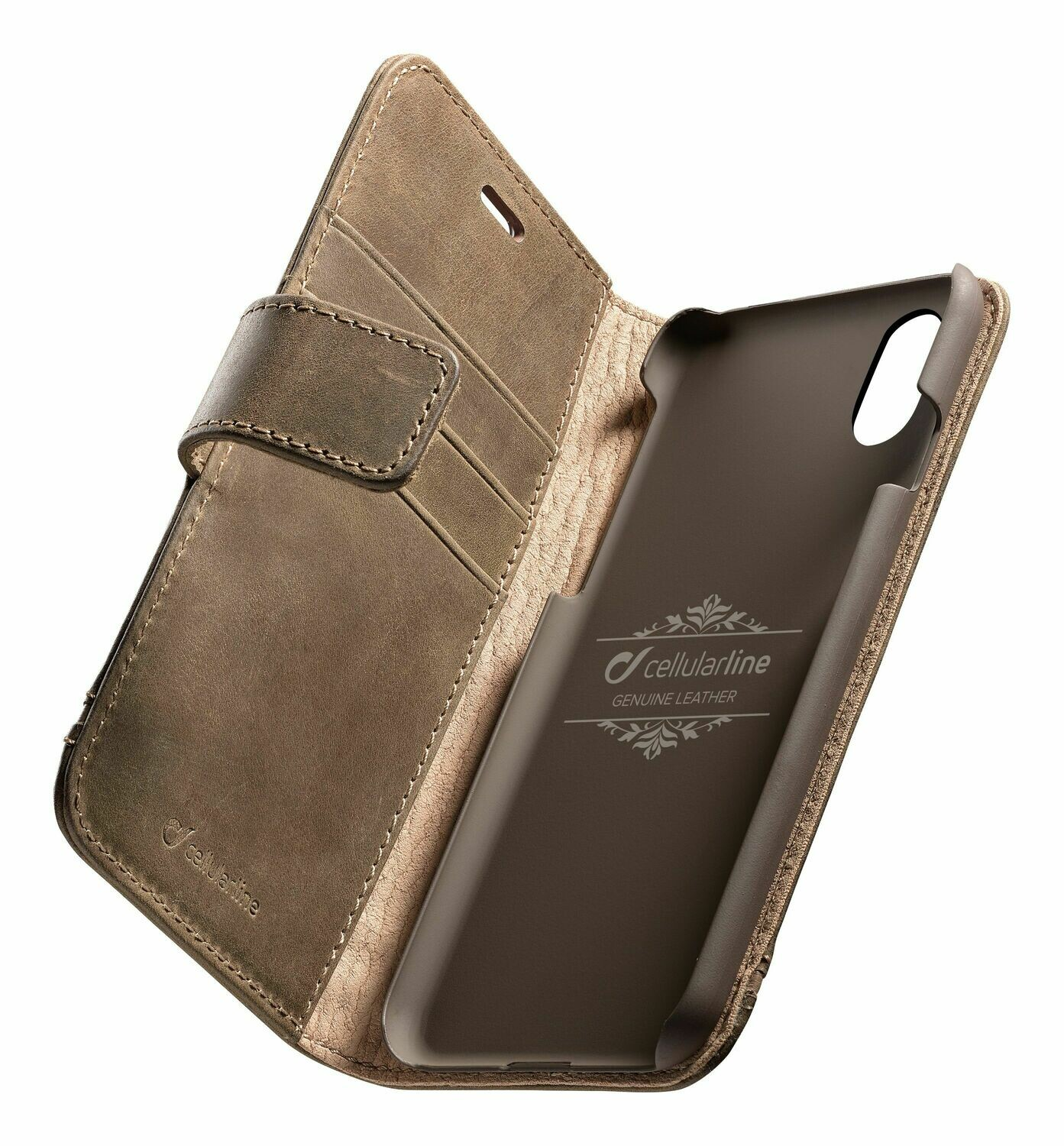 Cellular Line iPhone Xs/X Premium Leather Brown
