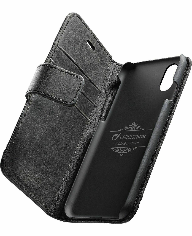 Cellular Line iPhone Xs/X Premium Leather Black