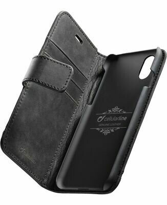 Cellular Line iPhone Xs/X Premium Leather Black