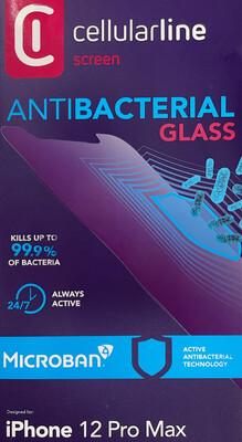 iPhone 12 Pro Max SP Gehard Glass Antimicorbieel transparant