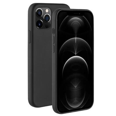 BeHello iPhone 12 Pro Max Liquid Silicone Case Black