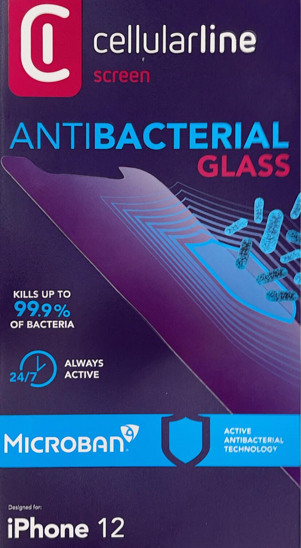 iPhone 12 SP Mini Gehard Glass Antimicorbieel transparant