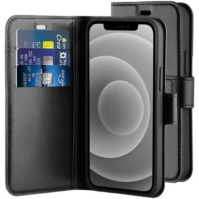 BeHello iPhone 12 mini Gel Wallet Case Zwart