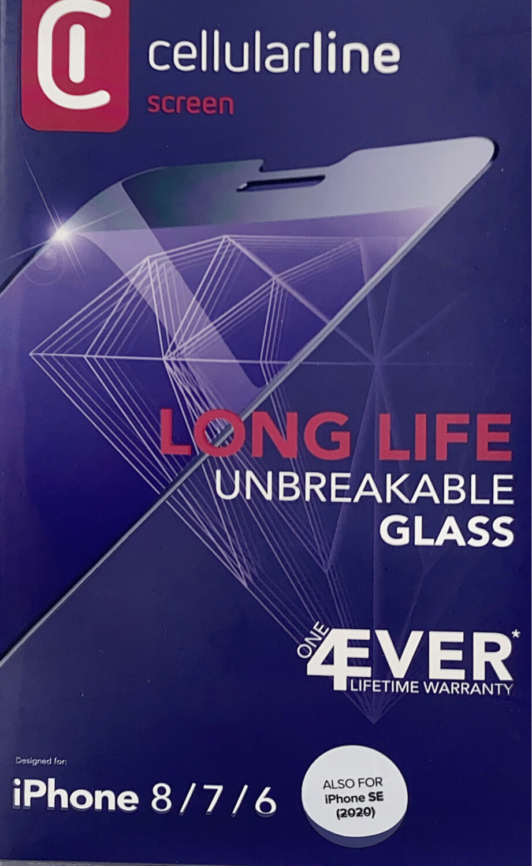 Cellularline - iPhone SE2020/8/7/6 Screenprotector Longlife