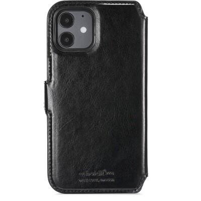 iPhone 12/12 Pro wallet hoesje, magnetisch zwart