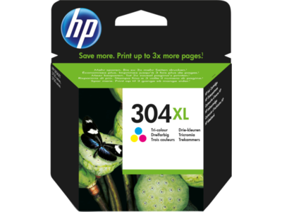 Inkt HP 304XL Cyaan, Magenta, Geel