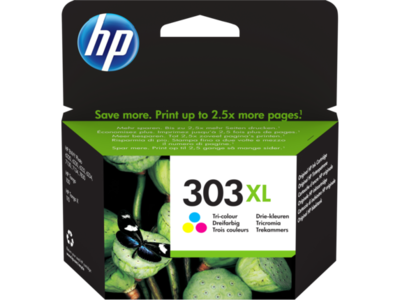 Inkt HP 303XL Cyaan, Magenta, Geel