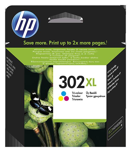 Inkt HP 302XL Cyaan, Magenta, Geel