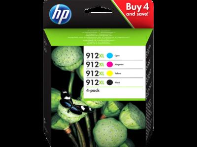 Inkt HP 912XL Zwart, Cyaan, Magenta, Geel