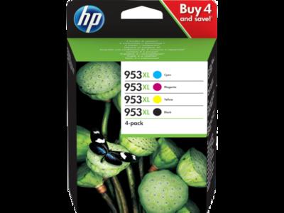 Inkt HP 953XL Zwart, Cyaan, Magenta ,Geel